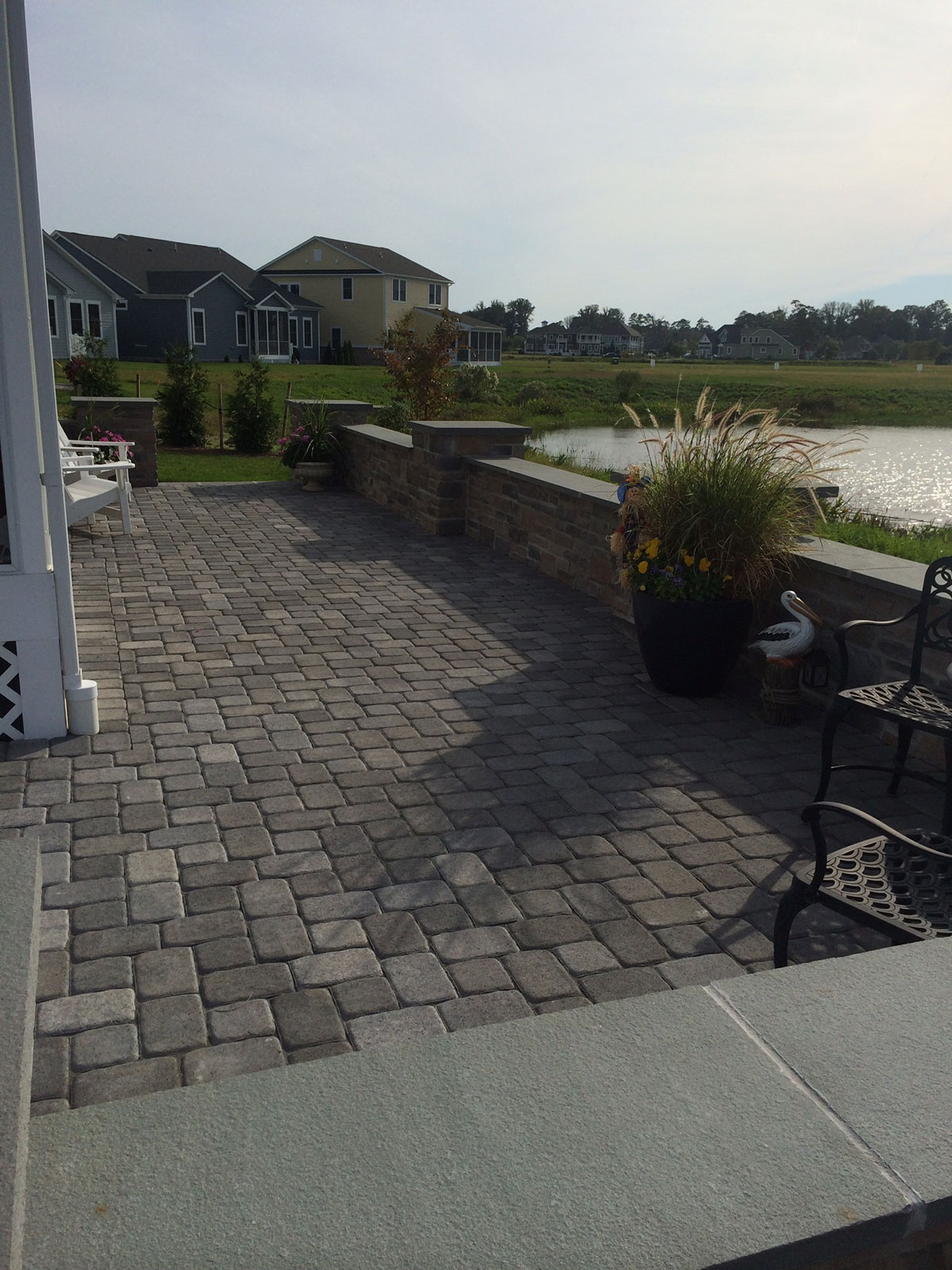 STI Landscaping Waterfront Stone Patio