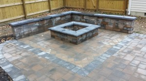 STI Landscaping Fire Pit Stonework finished look