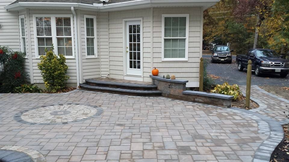 STI Landscaping Patio Stonework finished product