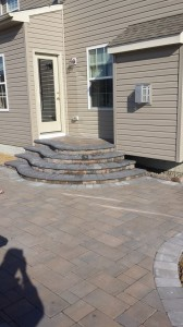 STI Landscaping Patio and Stairs Stonework finishing touches