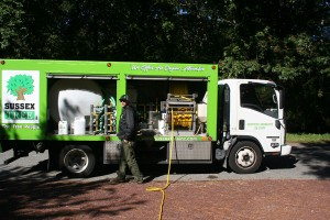 Sussex Trees Treatment Hose in truck